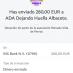 Donamos 280 € a la asociación Albacete Dejando Huella